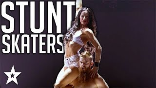Most Dangerous Skate Act Which SHOCKED Judges on America's Got Talent | Got Talent Global
