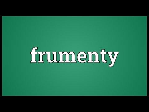 Header of frumenty
