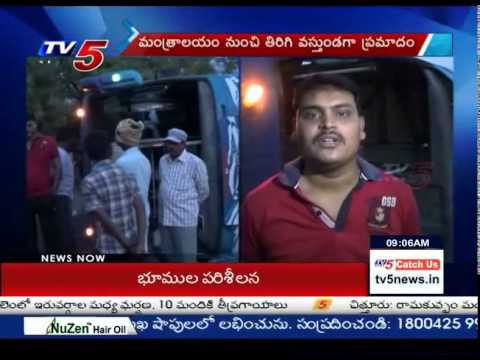 Dangerous Road Accident in Anantapur Dist : TV5 News