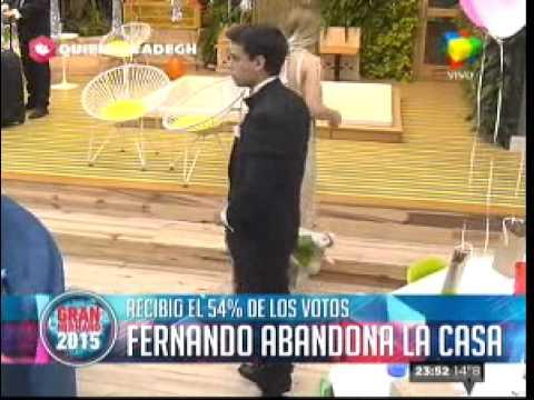 """""""Gran Hermano 2015"""": Fernando fue eliminado de la Casa"""