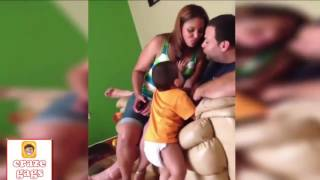 Funny Babies Jealous When Daddy Kissing Mommy , Baby Gets Jealous When Mom Kisses Dad compilation