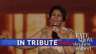 A Late Show Tribute To Aretha Franklin