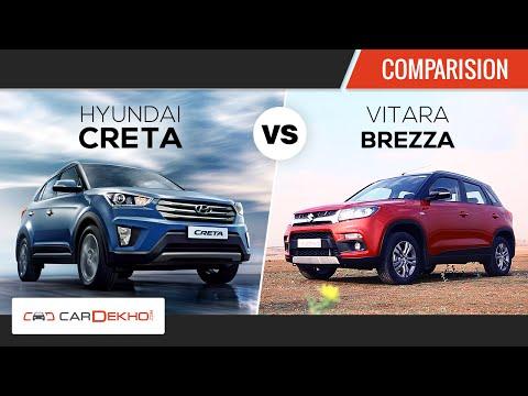Maruti Vitara Brezza vs Hyundai Creta | Comparison Review | CarDekho.com