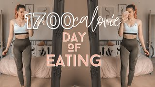 1700 calories || High protein || Day of eating