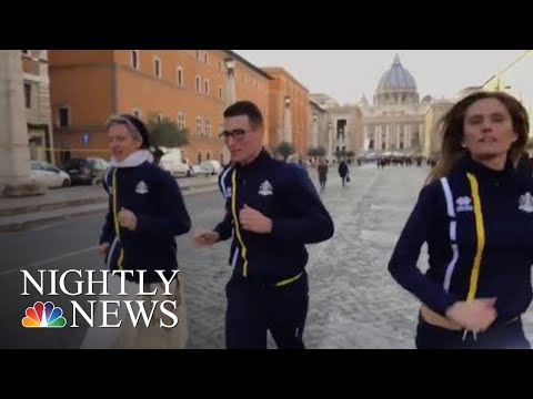 Vatican Launches Official Track Team | NBC Nightly News