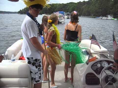 Part 1 of the Pontoon Hawaiian boat ride up north at the Riddle's cottage.