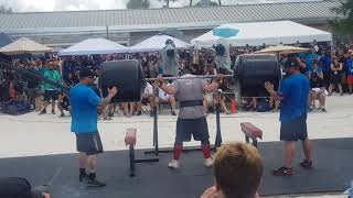Trey Mitchell III 340kg SQUATLIFT for reps in The World's Strongest Man 2019