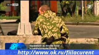 Separatistii ataca Donetkul