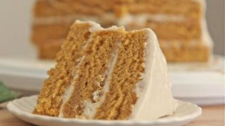 Easy Pumpkin Spice Cake w/ Cinnamon Cream Cheese Frosting