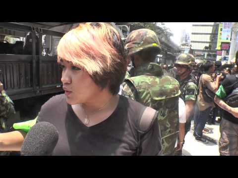 Bangkok (Thailande) 25-05-2014 Thai Army use music for maintain order
