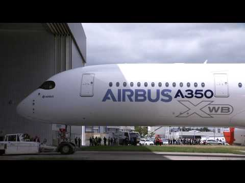 First Airbus A350 Out of Paint Hangar