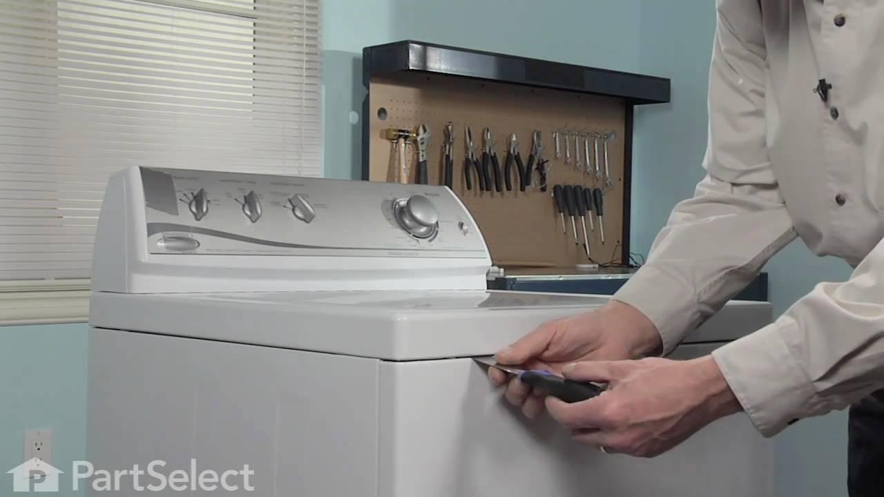 Washer Repair Replacing The Lid Hinge Pin Whirlpool Part