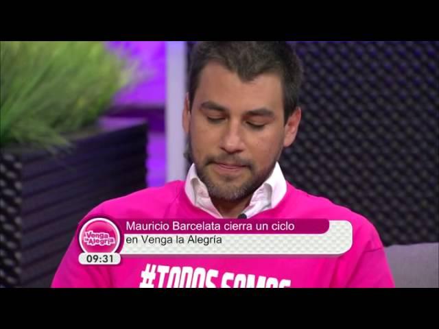 Mauricio Barcelata se despide de Venga la Alegría