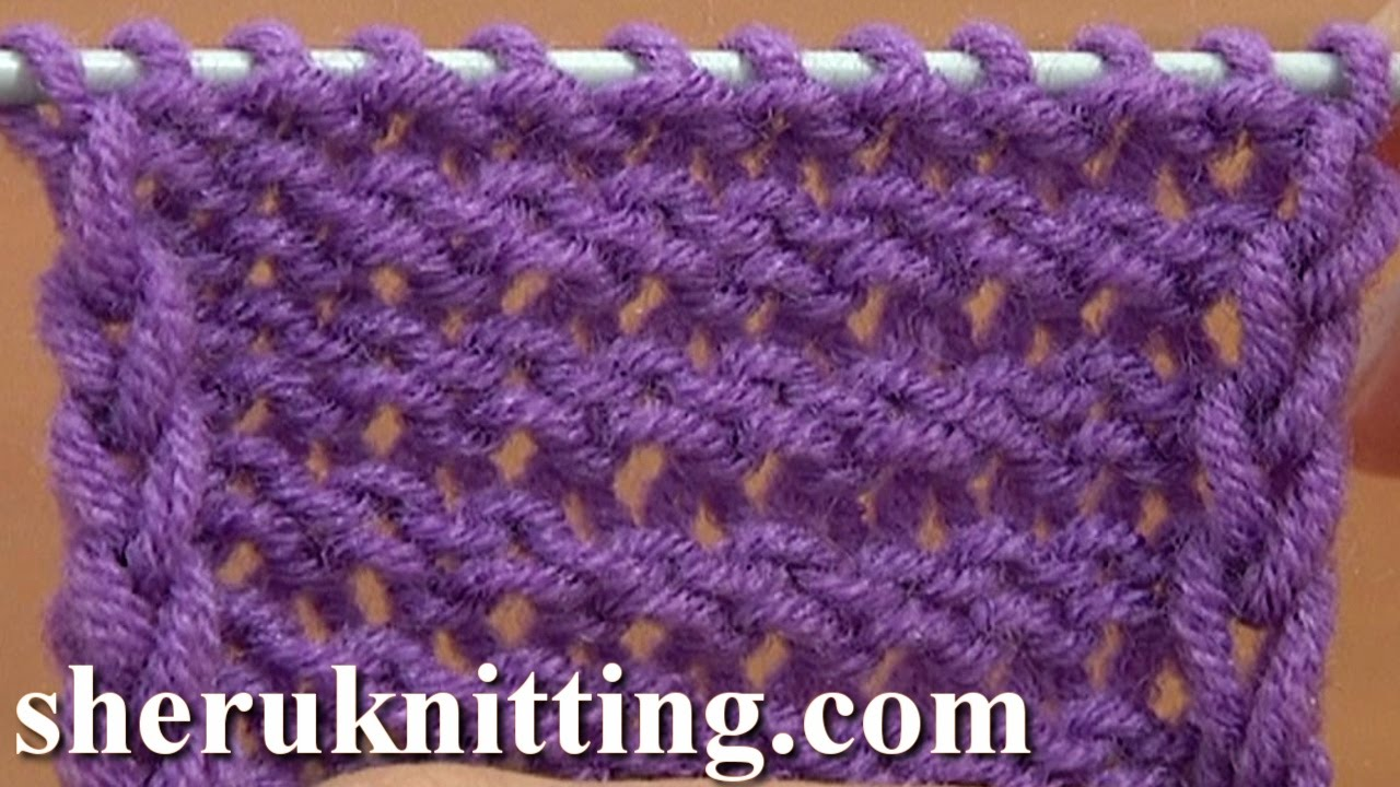 Knitting Stitches Reverse Stockinette : The Reverse Stockinette Stitch Knitting Tutorial 5 Part 2 of 2 Second Way - Y...