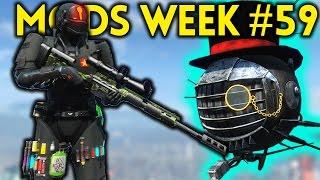 Fallout 4 TOP 5 MODS (PC, XBOX & PS4) Week #59 - BIOSHOCK, STEALTH SUIT, GARAND, 870, MEGA NUKES