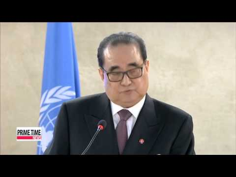 "N. Korean FM claims UN human rights report is based on ""lies of criminals&q"