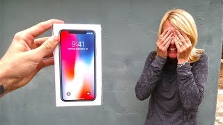 SURPRISING MY MOM WITH A BROKEN IPHONE X! *she was pissed*
