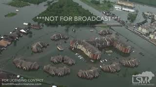 8-31-2017 Beaumont, Tx Dramatic flood video from Helicopter aerial Flash flooding Harvey