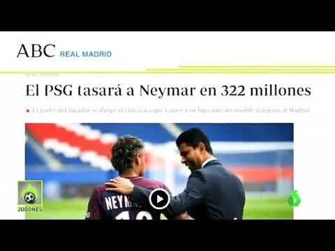 Última hora 322 millones de Euros por Neymar tendrá que pagar el Real Madrid para ficharlo del PSG thumbnail