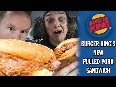 Trying Burger King's New Pulled Pork Sandwich