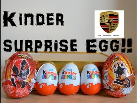 Kinder Surprise Power Rangers Egg Surprise Opening PORSCHE find !!!!