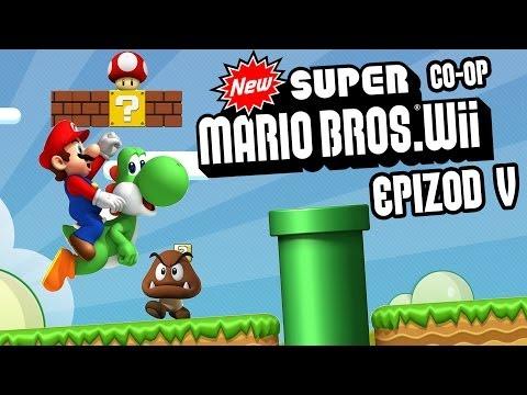 #5 Zagrajmy W New Super Mario Bros. Wii - Świat 5 - Coop Z Karoliną - Wii Gameplay PL