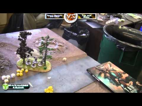 Space Marines/Eldar vs Tau/Eldar Warhammer 40k Battle Report - Beat The Cooler Ep 46 - Part 3/3