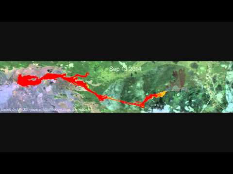 Animation of USGS maps of the June 27th lava flow (updated Jan 9, 2015)