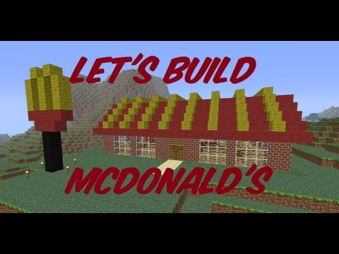 Minecraft Let's Build #6 McDonalds Part 1