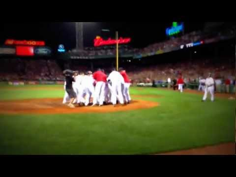 Cody Ross' walk off three run homerun to beat White Sox 3-1.  7/19/2012