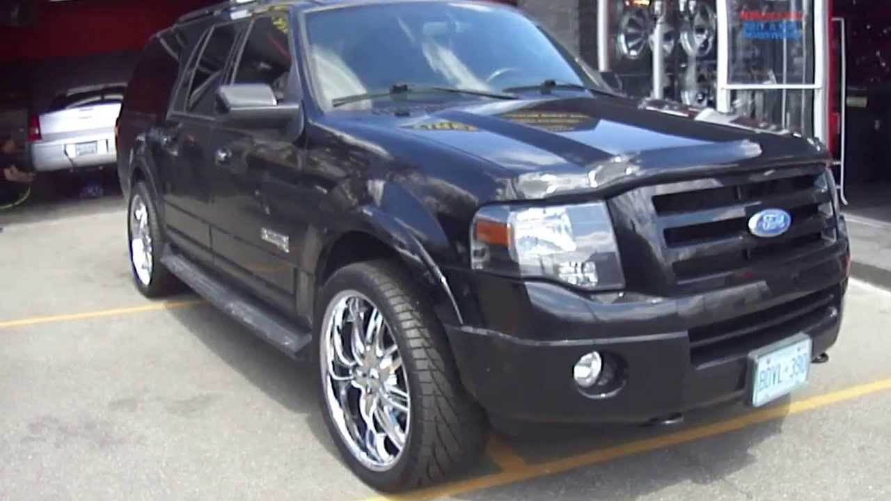 Hillyard Custom Rim Amp Tire 2010 Ford Expedition Rolling On 24 Quot Chrome Rims Youtube
