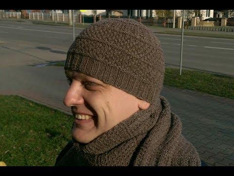 Видеоуроки вязание мужских шапок 66