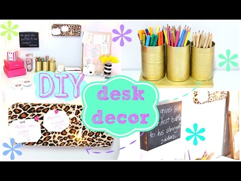 ✂ DIY Desk Decor   Easy & Inexpensive ✂