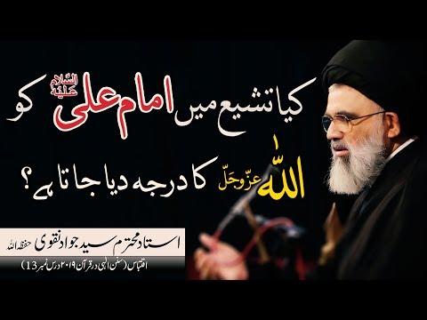 Kya Tashayyu mai Imam Ali as ko Allah ka Maqam dia jata hai | Ustad e Mohtaram Syed Jawad Naqvi