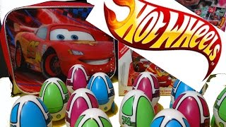 HOT WHEELS 12 Surprise Eggs Surprise Cars2 Cars Matchbox Lightning McQueen Oeufs Auto Les Bagnoles