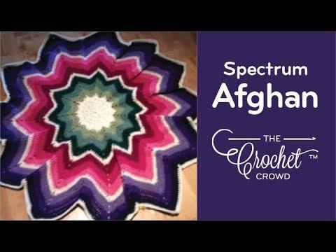 Crochet Round Afghan Spectrum Afghan Youtube