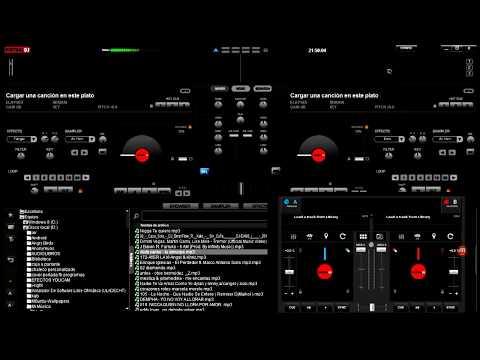 Virtual DJ 8 Con apariencia Virtual DJ 7 (cambiar skin) usar Virtual DJ REMOTE (ANDROID)
