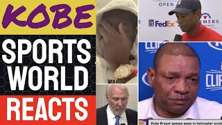 NBA world REACTS to Kobe Bryant death [TRAGIC]