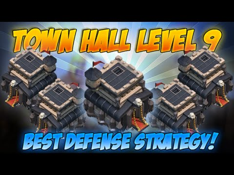 BEST Town Hall Level 9 Defense Strategy for Clash of Clans - Farming bases and Trophy Hunting Bases!