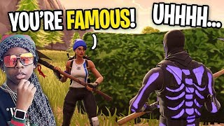 Rapper On Fortnite Finds Out Im A YouTuber and FREAKS OUT (he guessed how many subscribers I have)