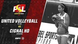 LIVE United Volleyball Club vs. Cignal HD Spikers PSL Grand Prix 2019