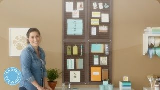 Making a Shutter Organizer - LEARN & DO - Home How-To Series - Martha Stewart