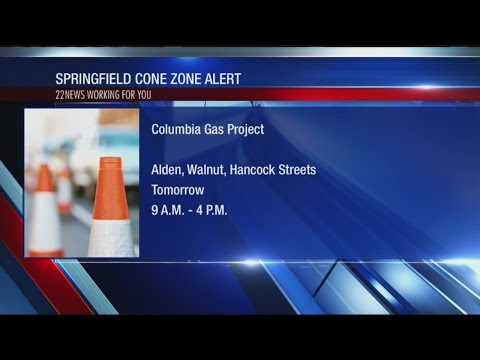 Columbia gas working on a road project in Springfield