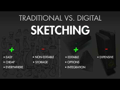 Digital vs. Traditional Media for Design Sketching