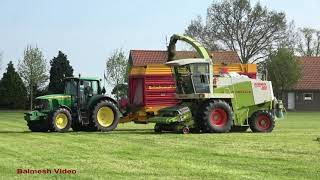 Claas 880 Chopper on the Grass for Silage.