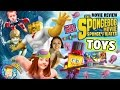 Sky Kids build Toys R Us Exclusive Spongebob Mega Bloks Figures + Sponge Out of Water Movie Review