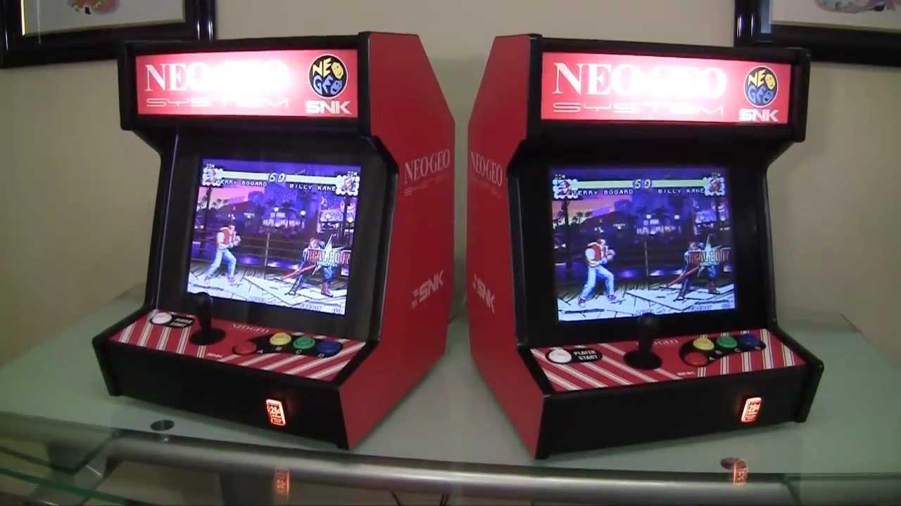 Neo Geo Bartop Arcade System Youtube