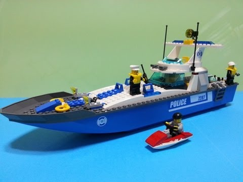 Lego City Police Boat 7287 Build Review