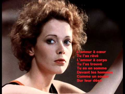 Pierre Bachelet -- Emmanuelle 1974  Avec Lyrics, Paroles video