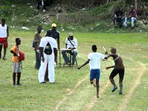 4 by 2oom boys open Robert Lightbourne High sports day 2011 st thomas jamaica